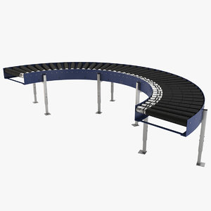 conveyor roller industrial 3D model