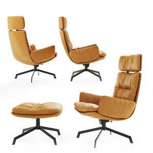 kff lounge chair 3D model