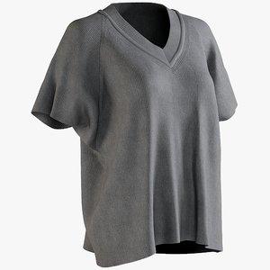 realistic women s t-shirt 3D