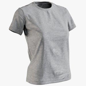 realistic women s t-shirt model
