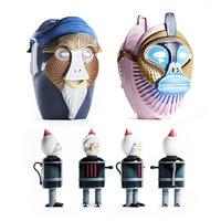 Bosa Primates Most Illustrious Sculpture Riccardo Dalis 3D model