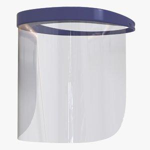 visor protection glass v2 3D model