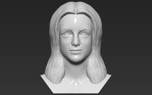 3D britney spears bust printing model