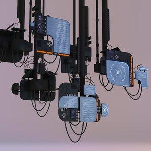 monitors suspended 3D model