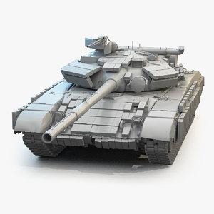 3D main battle tank t-64 model