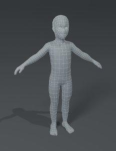 boy kid child body model