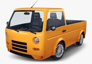 3D kei truck concept retro