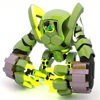 Futuristic Robot, 3d model