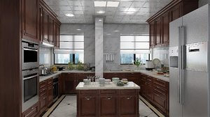 interior residential rooms kitchen model