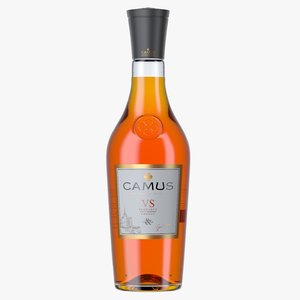 3D camus vs cognac bottle