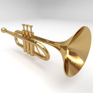 trumpet realistic 3D model