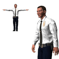 Game ready Character  - Animated Police officer