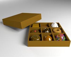 3D choco chocolate box