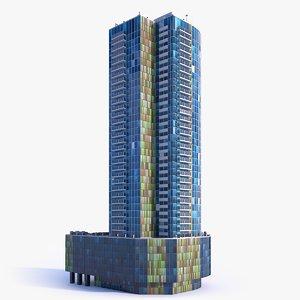 3D model skyscraper building 15