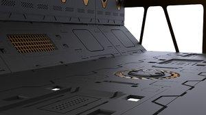 3D kit panels sci-fi set model