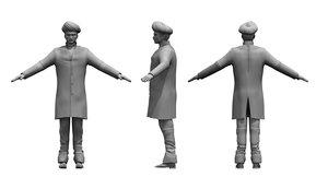 3D india man