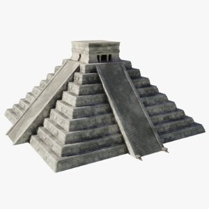 3D model chichen itza pyramid