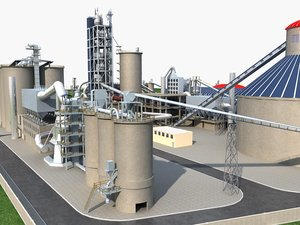 modern factory building model