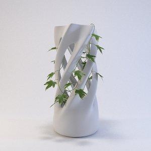 3D twist vase