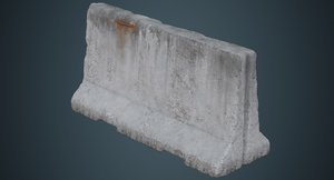 3D concrete barrier 3c