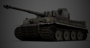 3D model tank war pbr