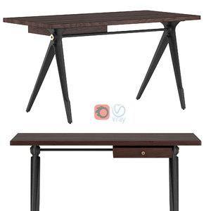 compass desk drawers 3D model