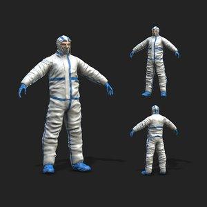 3D hazmat worker model