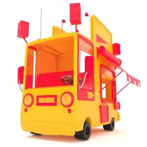 cartoon food car 3D model
