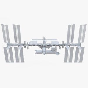 iss international space 3D model