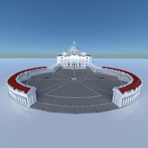 saint peter s basilica 3D model