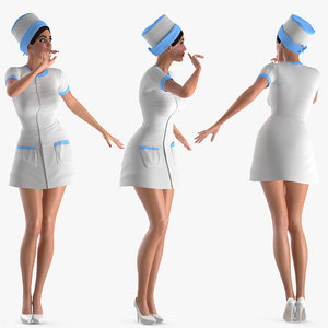 nurse rigged 3D model