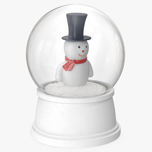 snow globe snowman model