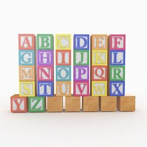 3D alphabet block