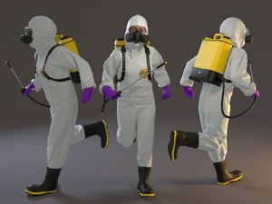 female biohazard suit acc model