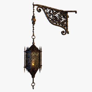 3D lamp medieval castle soave