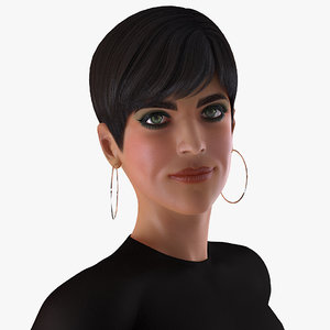 3D woman casual clothes female rigged