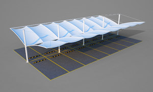 car parking tensile 3D model