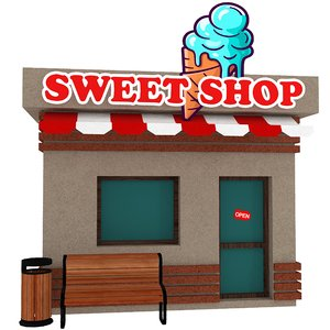 3D sweet cartoon shop