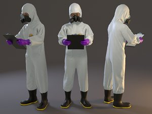 female biohazard suit acc 3D
