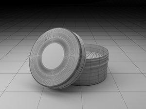 3D metal jar