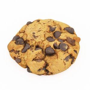 3D model choco cookie