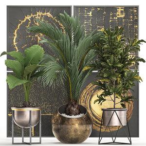 tropical plants interior 3D model