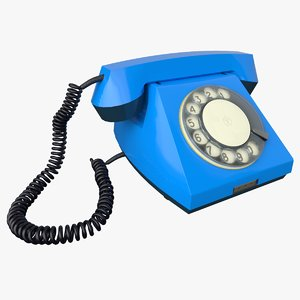3D ussr rotary dial phone