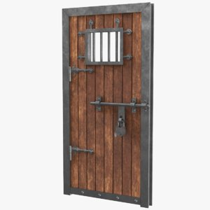3D real old door model
