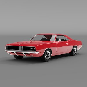 3D 1969 dodge charger r