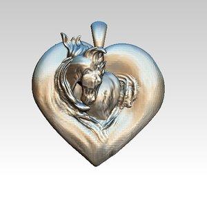 3D horse love
