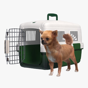 chihuahua pet carrier fur 3D model
