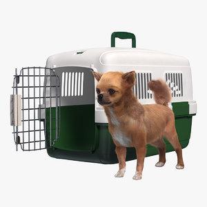 chihuahua pet carrier fur 3D model
