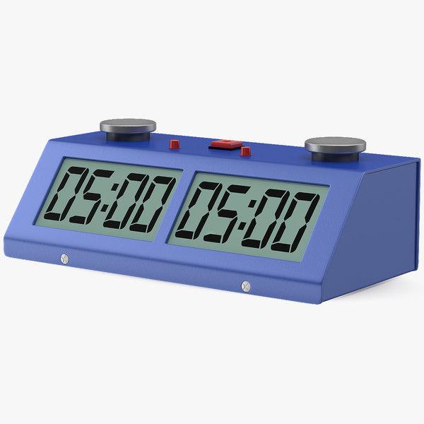 3D digital chess clock generic