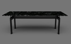 iconic cassina lc6 table 3D model
